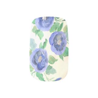 Blue Rose Nails Minx Nail Art