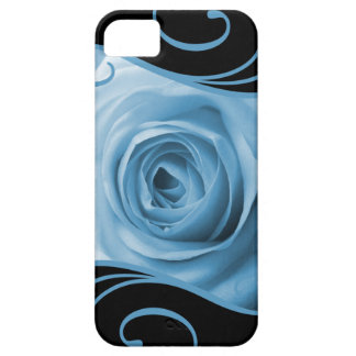 Blue Rose Swirls iPhone 5 Covers