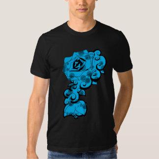 Blue Rose Swirls T Shirts