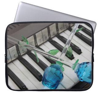 Blue Roses On Organ Laptop Sleeve