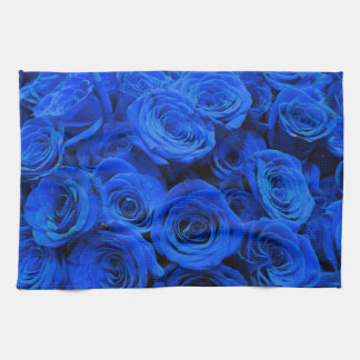 Blue Roses Tea Towel