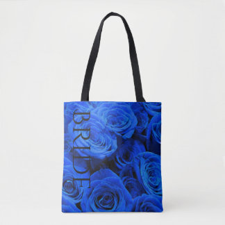 Blue Roses tote for the Bride