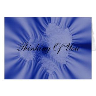 Blue Ruffles Card