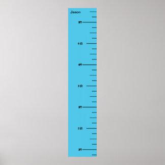 Blue Ruler Growth Chart