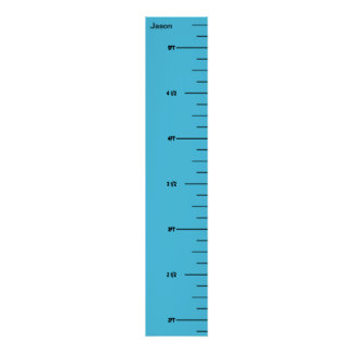Blue Ruler Growth Chart Poster