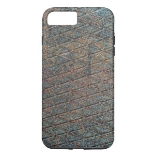 Blue Rusted Diamond Shape Metal Pattern iPhone 7 Plus Case