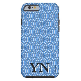 Blue scales pattern tough iPhone 6 case