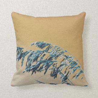Blue Sea Oats Brown Orange sky picture Cushion