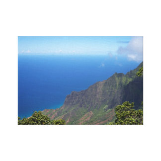 Blue Sea, White Clouds, Green Mountains of KAUAI Gallery Wrapped Canvas