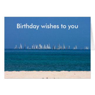 Blue sea yacht racing in Antigua Card