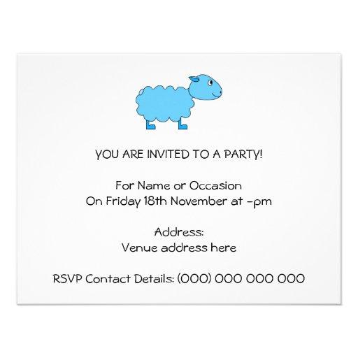 Blue Sheep. Invitation