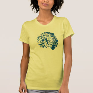 Blue Silhouette American Indian Chief Shirt