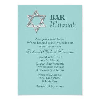 Blue silver bar mitzvah celebrations #2 card