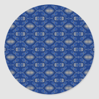 Blue Silver Mosaic Stickers