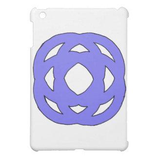Blue Simple Circle Knot iPad Mini Cases