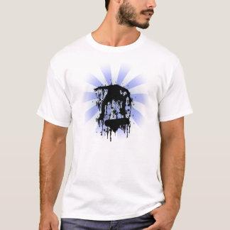 blue skateboard shirt