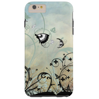 Blue Skies and Butterflies Tough iPhone 6 Plus Case