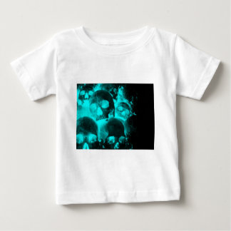 Blue Skull Glow Baby T-Shirt