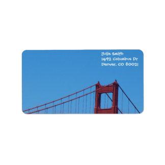 Blue Sky and Golden Gate Label