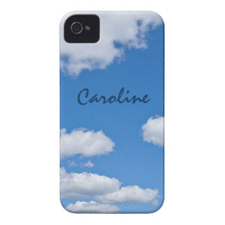 Blue sky and white clouds personalized iPhone 4 cover