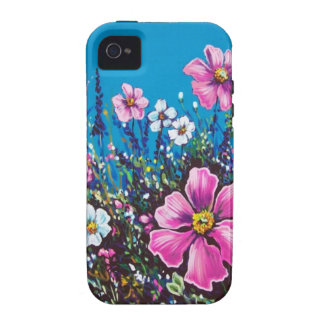 blue sky and wildflowers iPhone 4/4S cases