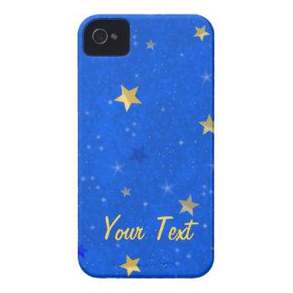 Blue Sky Golden Stars iPhone 4 Case
