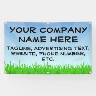 Blue Sky Grass Business Advertising Custom Banner