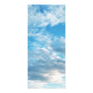 """Blue Sky Themed 4"""" x 9"""" Rackcard Rack Card"""