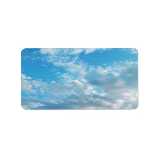 Blue Sky Themed Address Labels