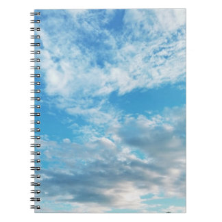 Blue Sky Themed Photo Notebook (80 Pages B&W)