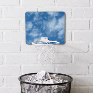 Blue Sky with Clouds Mini Basketball Hoop