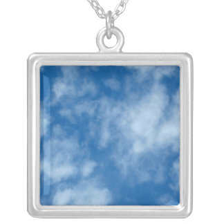 Blue Sky with Clouds Necklace