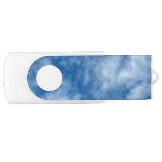 Blue Sky with Clouds USB Flash Drive