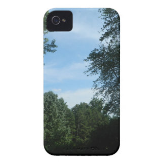 Blue sky with trees image Case-Mate iPhone 4 cases