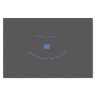 Blue Smile Face Tissue Paper
