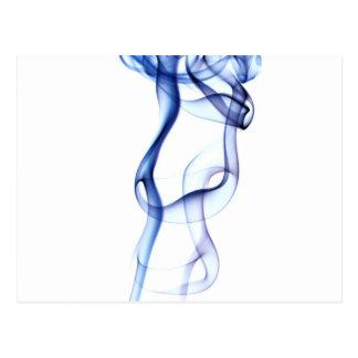 Blue smoke postcard