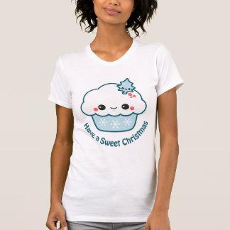 Blue Snowflake Cupcake T-Shirt