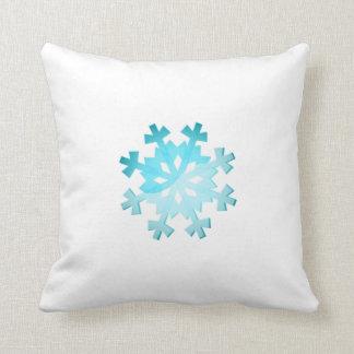 Blue Snowflake Cushion