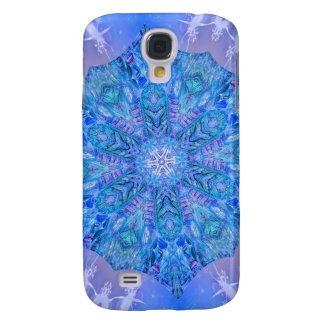 Blue Snowflake Fractal Galaxy S4 Case