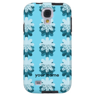 Blue Snowflake Pattern Galaxy S4 Case