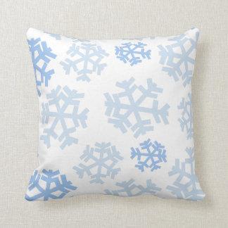 Blue Snowflakes Cushion
