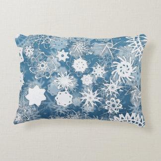 Blue Snowflakes Decorative Cushion