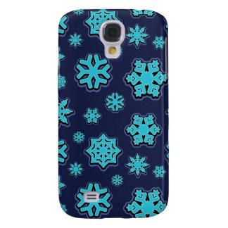 Blue Snowflakes Galaxy S4 Case
