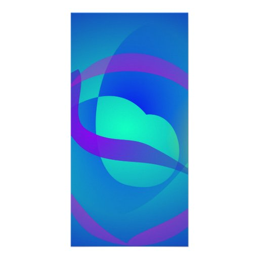 Blue Soothing Abstract Art Photo Greeting Card
