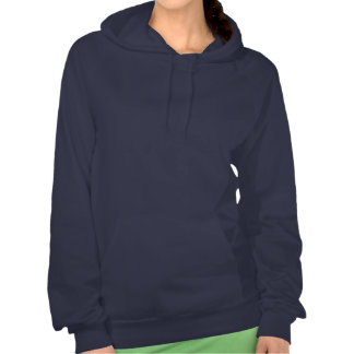 BLUE SPARKLE STRIPES: ARTISTIC DECORATIVE GIFTS HOODED PULLOVER