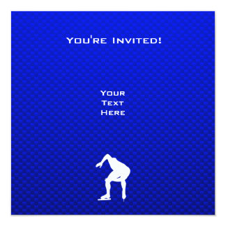 Blue Speed Skater 5.25x5.25 Square Paper Invitation Card