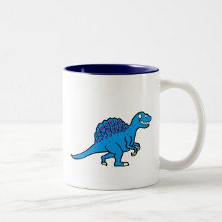 Blue Spinosaurus Two-Tone Coffee Mug