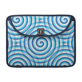 Blue Spiral MacBook Pro Sleeve