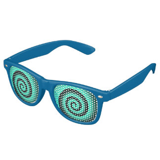 blue spiral party shades