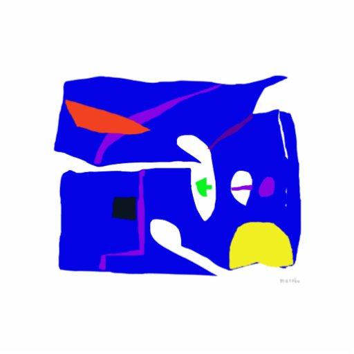 Blue Square Photo Sculpture